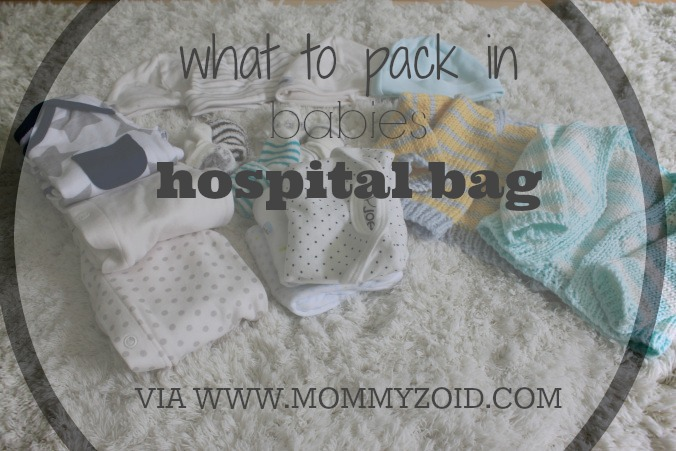 Babies Hospital Bag -- what to pack